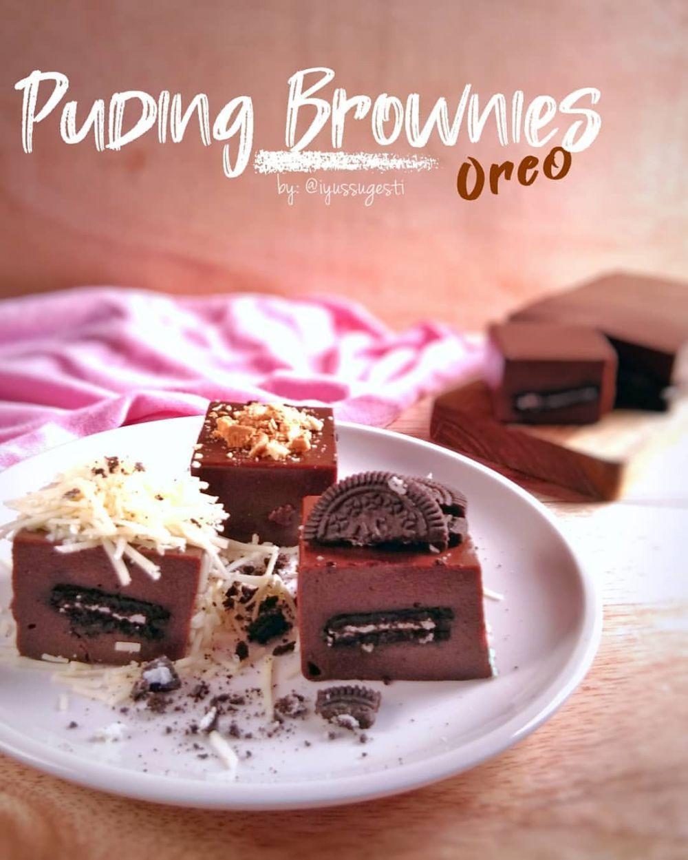 Resep Puding Brownies Instagram Di 2020 Pudding Desserts Makanan Manis Makanan Penutup Mini