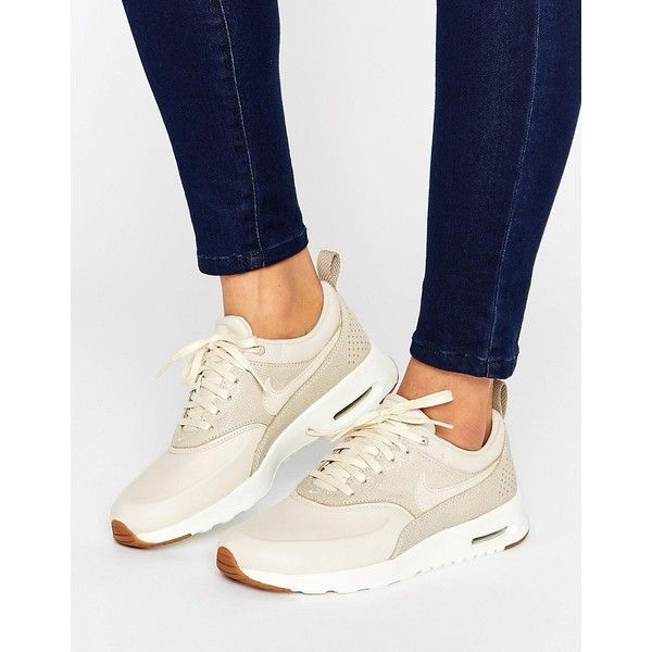 Nike Air Max Thea Basket Weave Sneakers In Oatmeal (€115