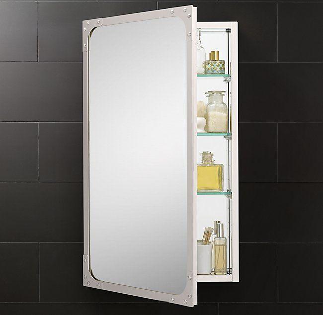 Industrial Rivet Medicine Cabinet Bathrooms Remodel Restoration Hardware Bathroom Medicine Cabinet