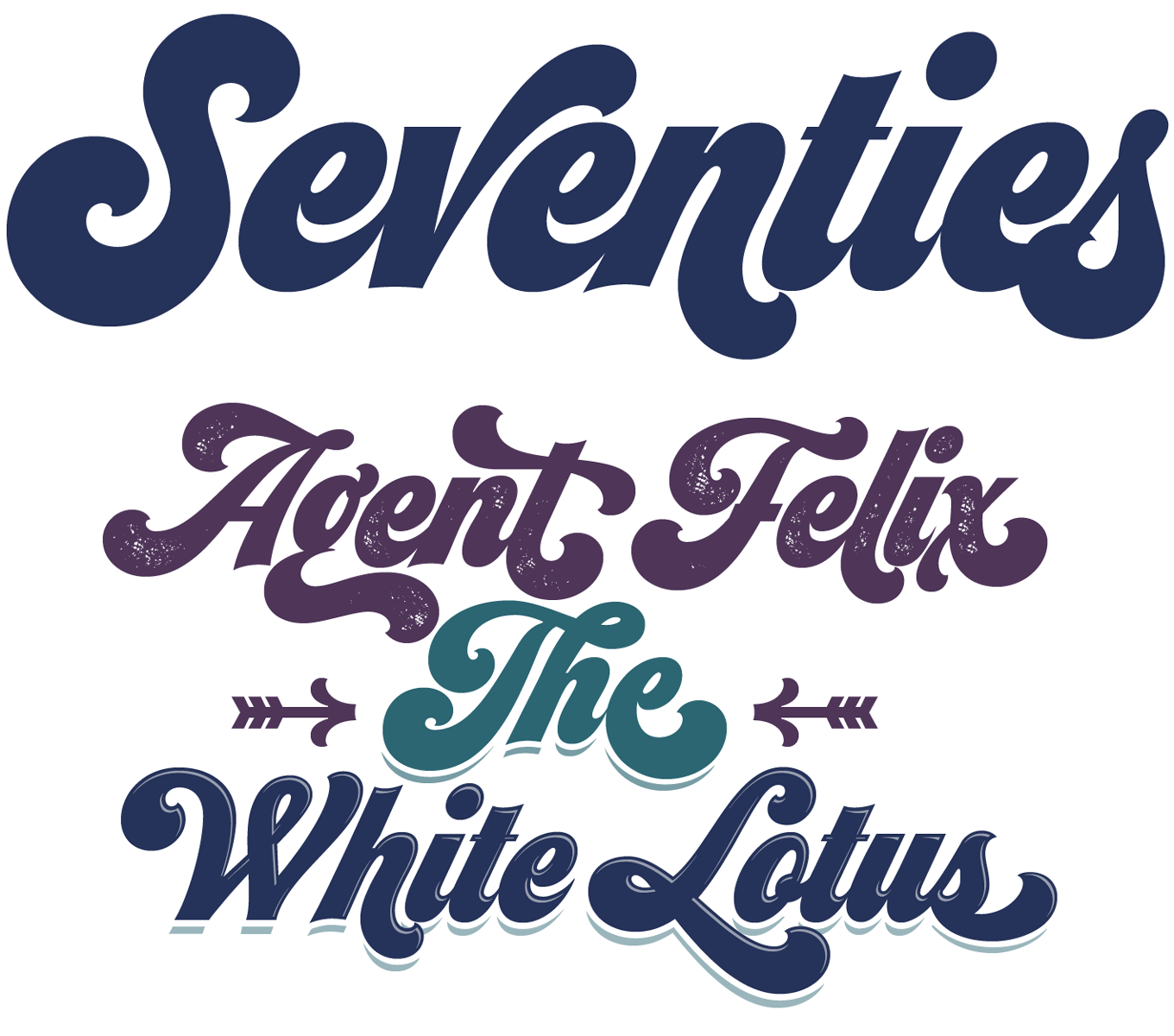 Seventies Font Sample   typography   Pinterest   Fonts and Typography