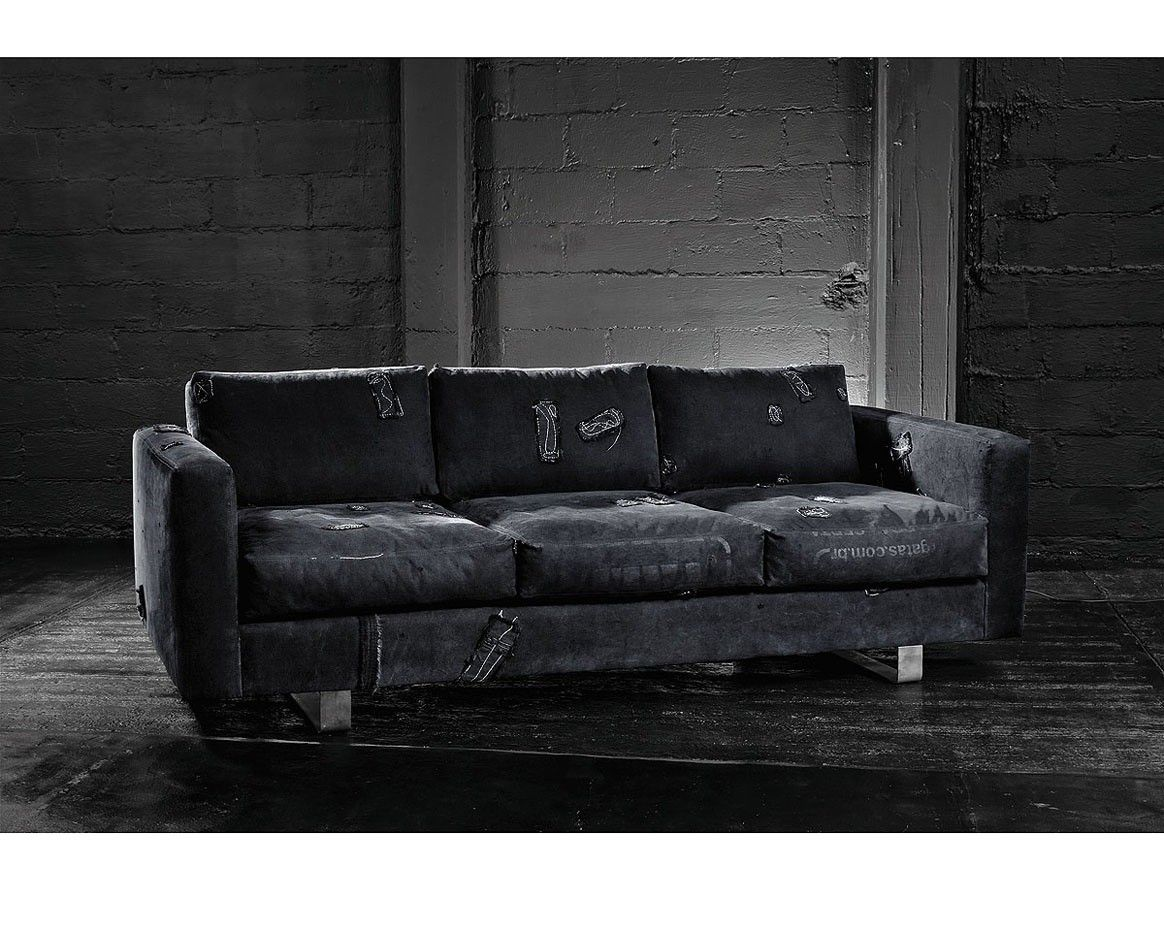 Bina industrial sofa black eco friendly sofa for Industrial couch