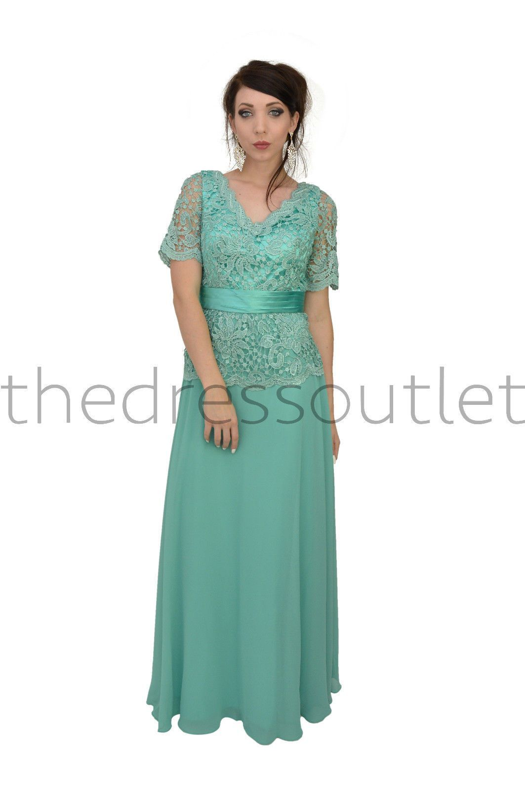 Long mother of the bride dress short sleeve женская одежда