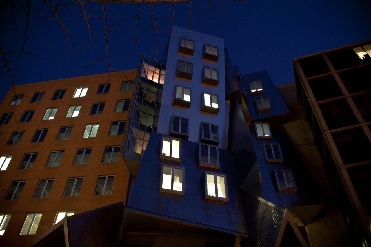 Stata Center at night. DiscoverMIT.com.
