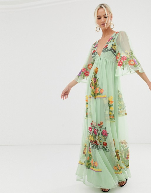 31++ Embroidered maxi dress information
