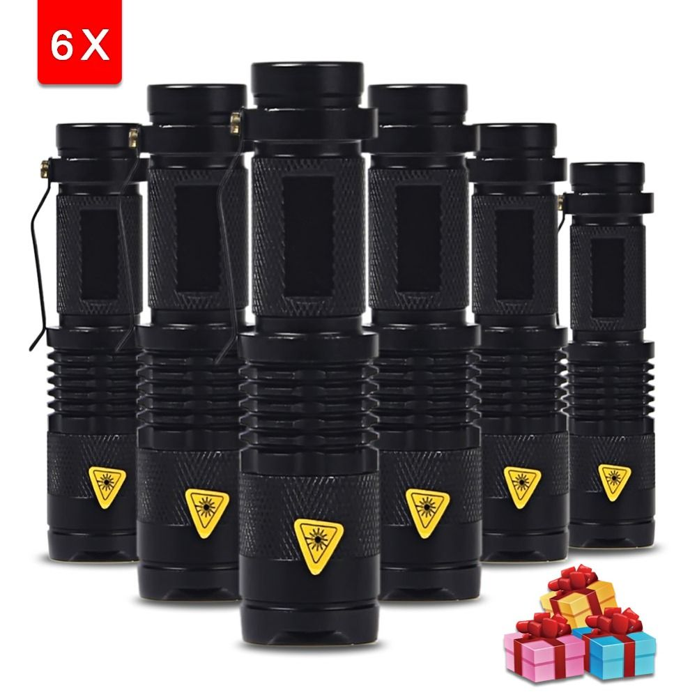 6pcs Lot Mini Flashlight 2000 Lumens Q5 Led Mini Flashlights Led Flashlight Flashlight
