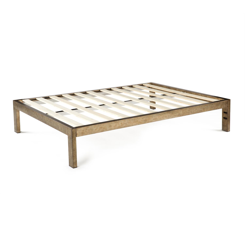 The Frame Gold Brushed Steel Bed Frame