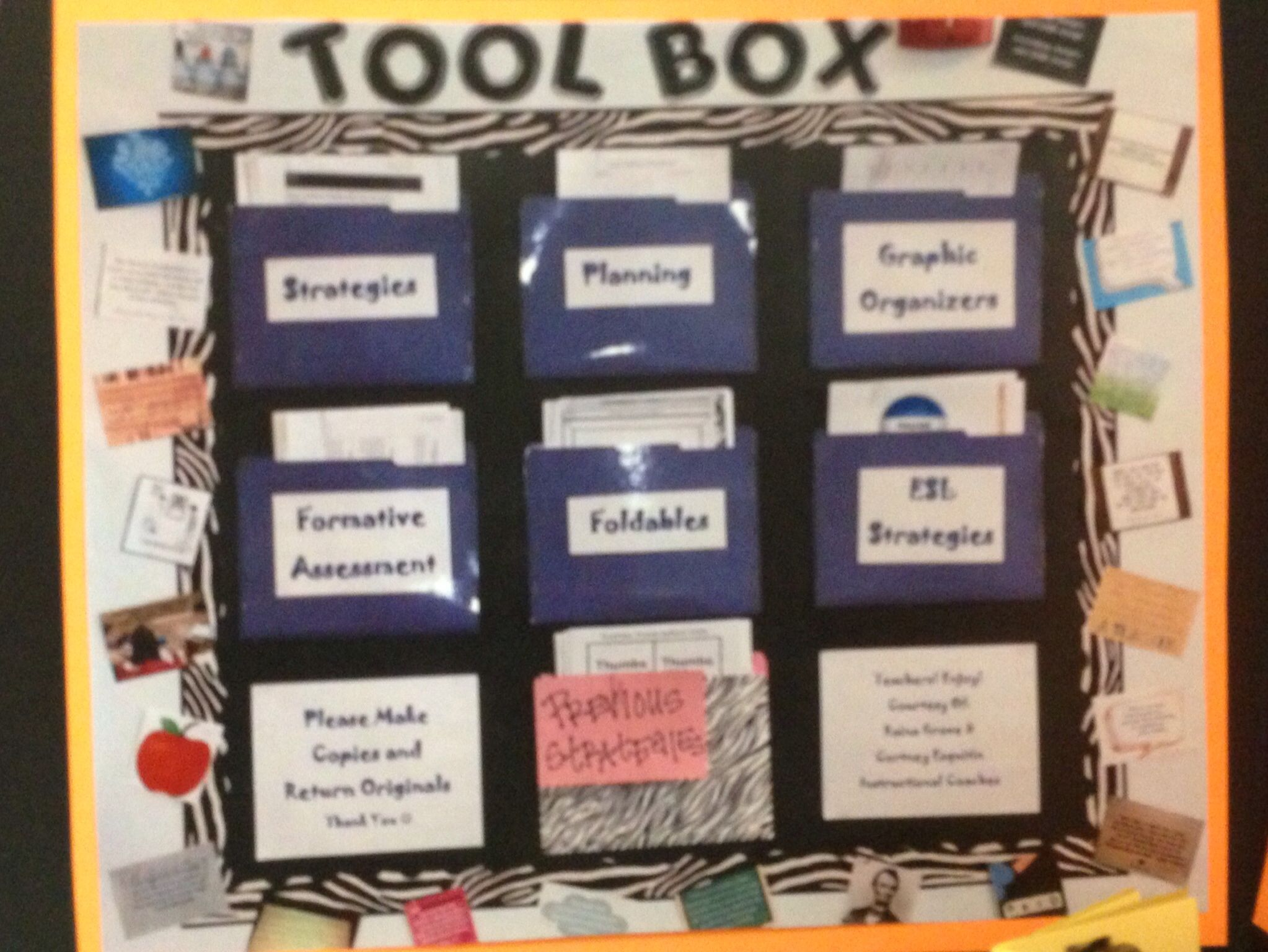 Make Bulletin Board In Teacher' Lounge Above