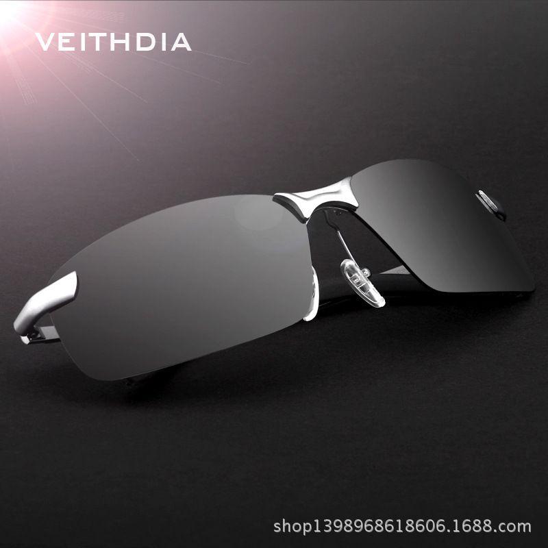 8dc22fbad5c Veithdia Brand Polarized Men s Sunglasses Rimless Sport Sun Glasses Driving  Goggle Eyewear For Men oculos de sol masculino 3043