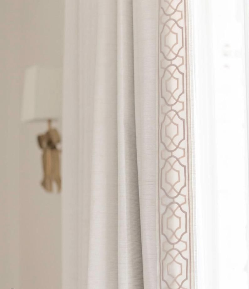 Samuel Sons Trim Curtain Trim Wide Trim Tape Wide Pink Greek Etsy Custom Drapes Curtains Curtain Trim
