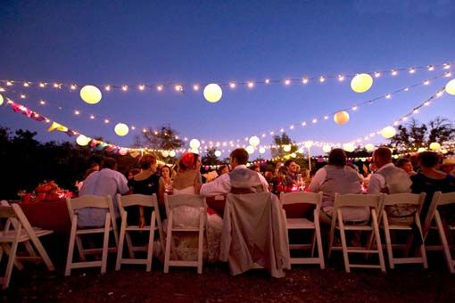 DIY outdoor wedding outdoor wedding lights wedding ideas