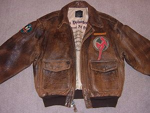 e50c3fba2fb Image detail for -WW2 Avirex A 2 Flying Tigers Flight Aero Bomber Leather  Jacket Large .