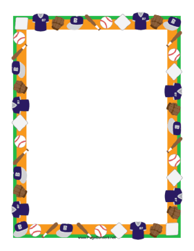 this sports theme border features baseballs and bats fielder s