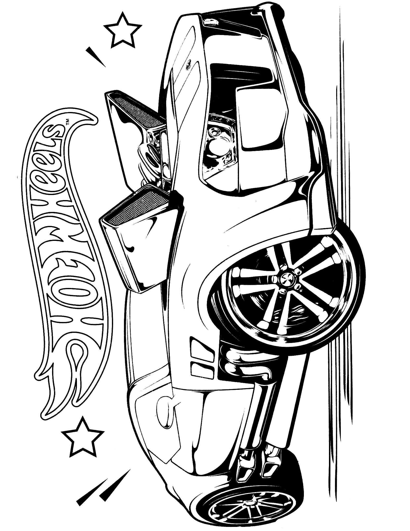 Coloring pages 4 wheeler - Team Hot Wheels Coloring Pages 1