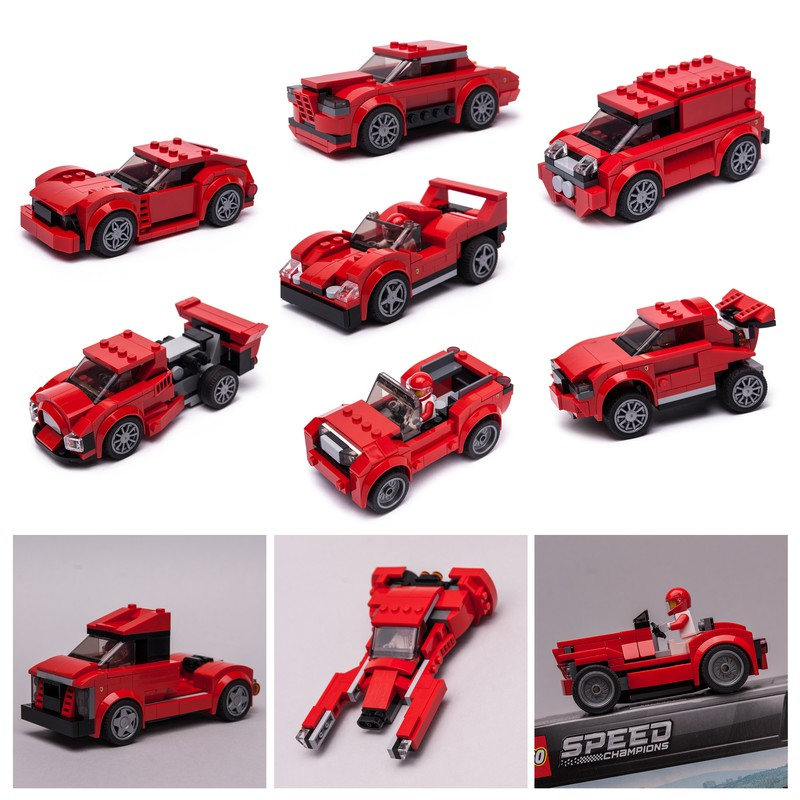 75890 12in1 Lego Speed Champions City Vehicles Lego Cars