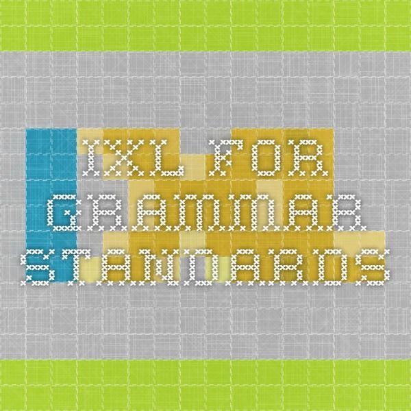 IXL for Grammar standards