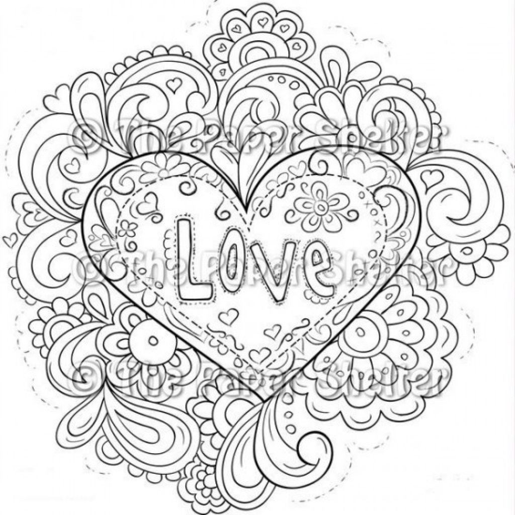 Fre Printable Image Of Trippy Love Heart   High School   Pinterest