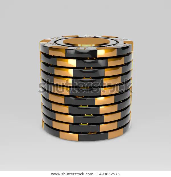 Black Stacked Poker Chips Classic Casino Stock Illustration 1493832575 Poker Chips Card Tattoo Designs Casino