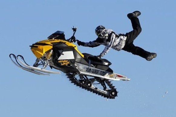 Snowmobile Jump Luke Maue