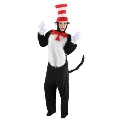 Men\u0027s Dr Seuss - Cat in the Hat Deluxe Costume K\u0027s 3rd Birthday - dr seuss halloween costume ideas