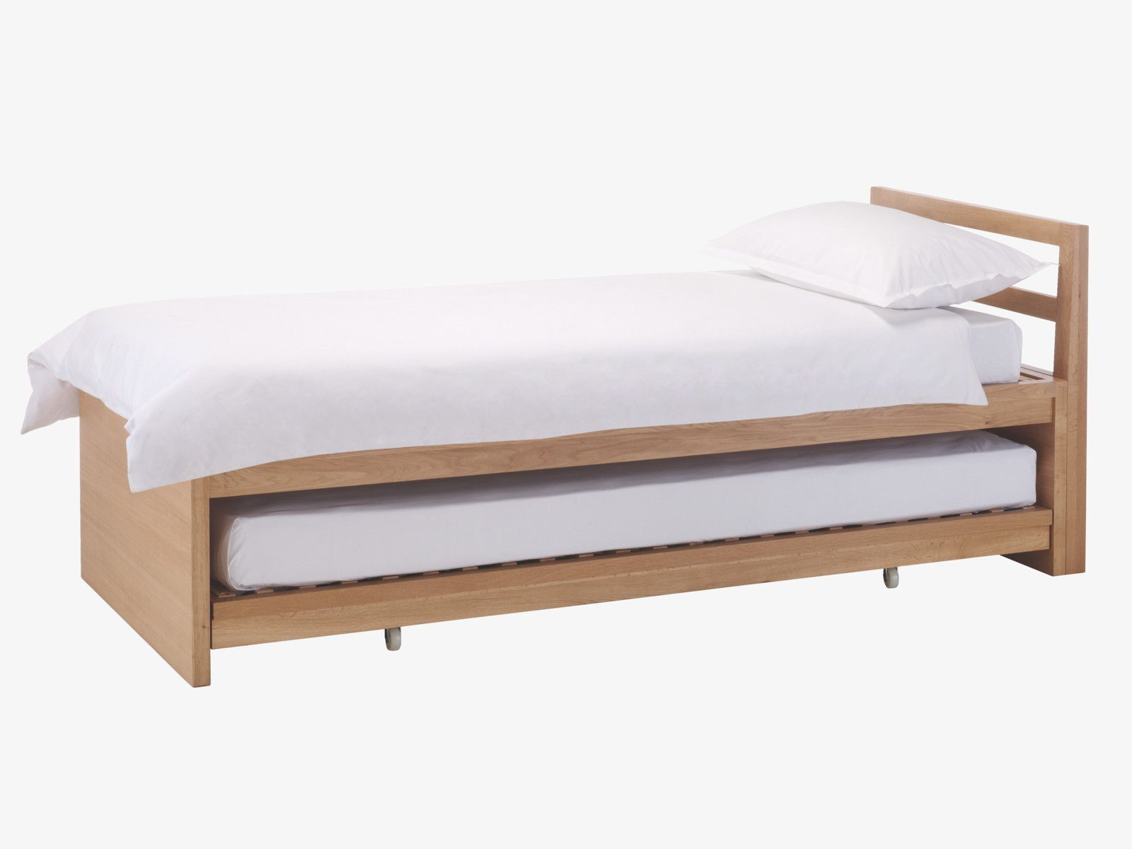 Adams Natural Wood Single Guest Bed  Beds Habitatuk