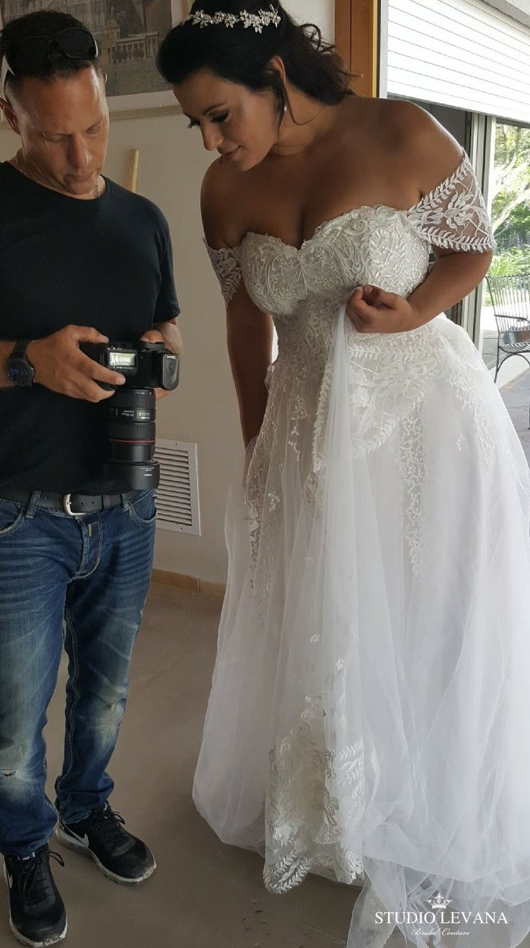 Plus Size Princess Ball Gown With Off Shoulder Sleeves Kerrie