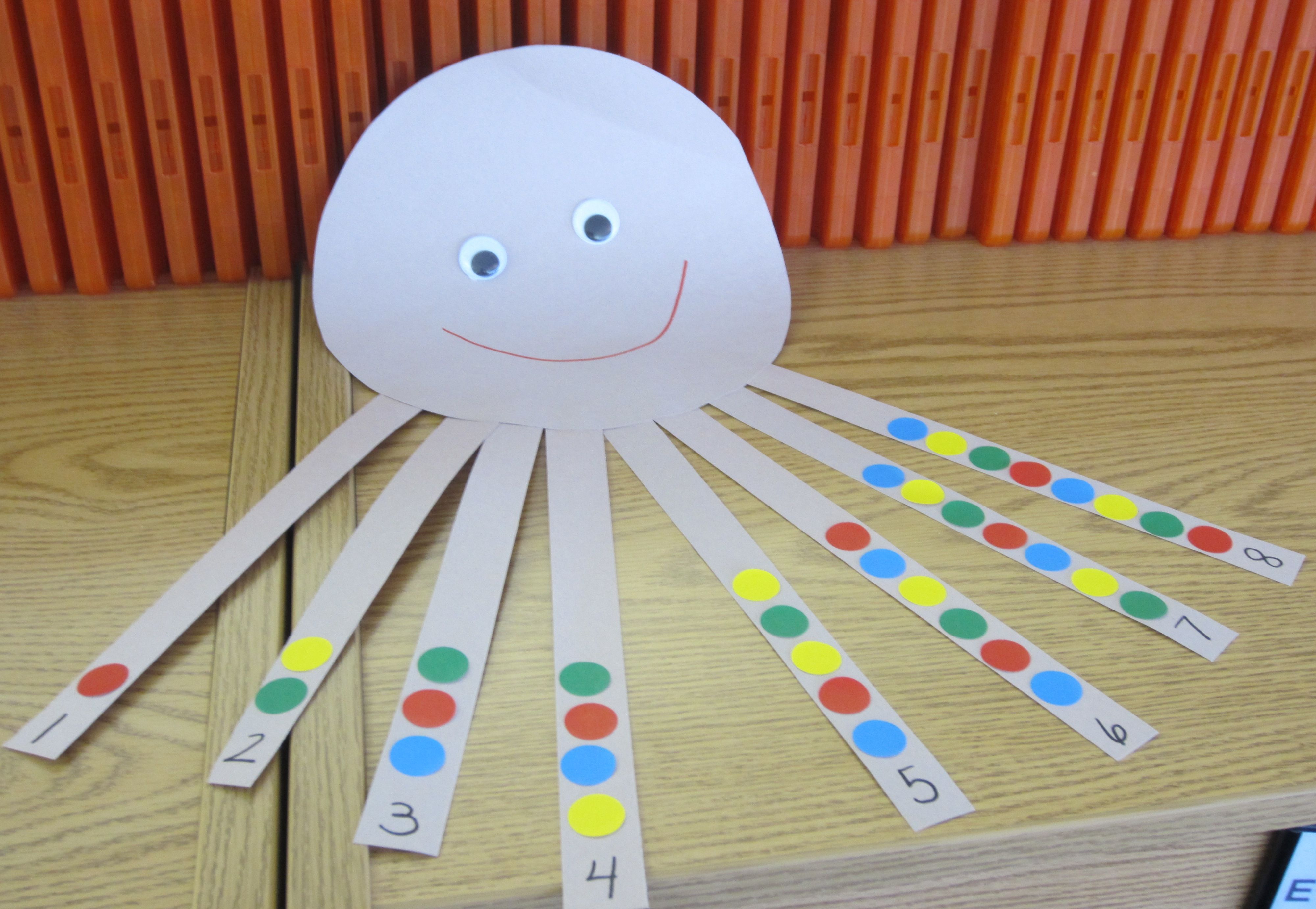 Counting Octopus This Is A Great Counting Practice Craft