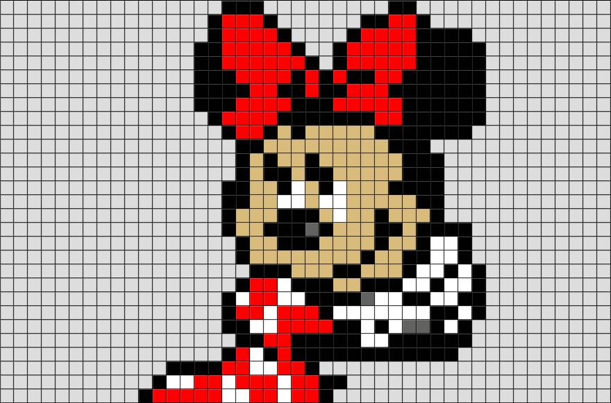 Minnie Mouse Pixel Art Brik Pixel Art Designs Pixel Art Art Design