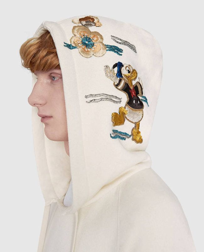 6c5528891 White Donald Hoodie - GUCCI x Donald Duck Capsule Collection - Disney Style  Blog