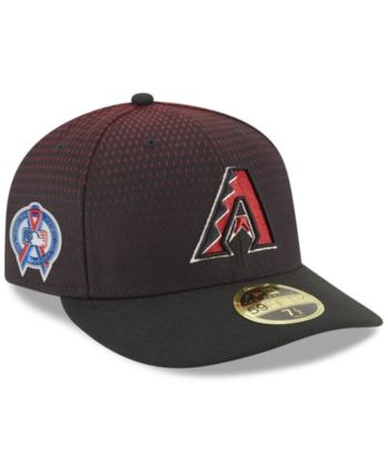 9d6c4c2e9e749 New Era Arizona Diamondbacks 9-11 Memorial Low Profile 59FIFTY Fitted Cap -  Black Red 7 3 4