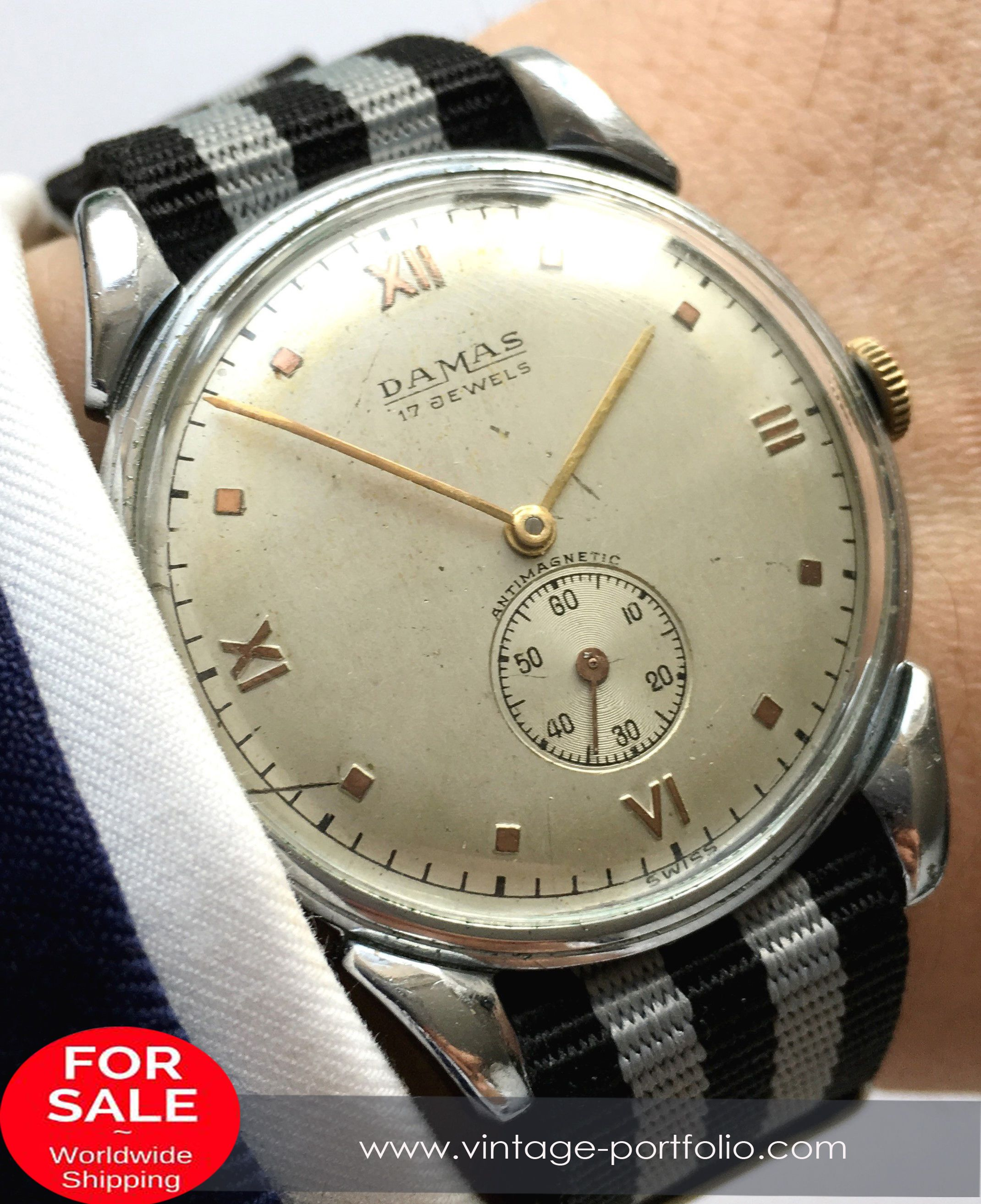 store automatic seeland watches era wwii vintage s original military style sealand bumper rare
