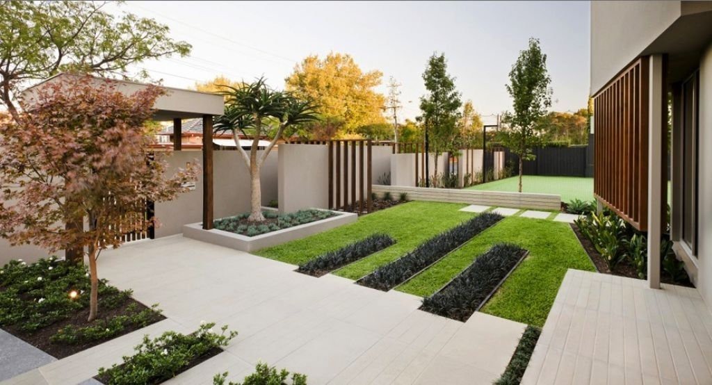 Luxury modern minimalist garden design and ideas 1024x554 for Minimalist landscape design