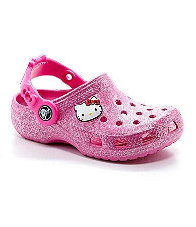 7c051f8a9 Crocs Girls´ Hello Kitty Glitter Clogs | hello kitty | Pinterest