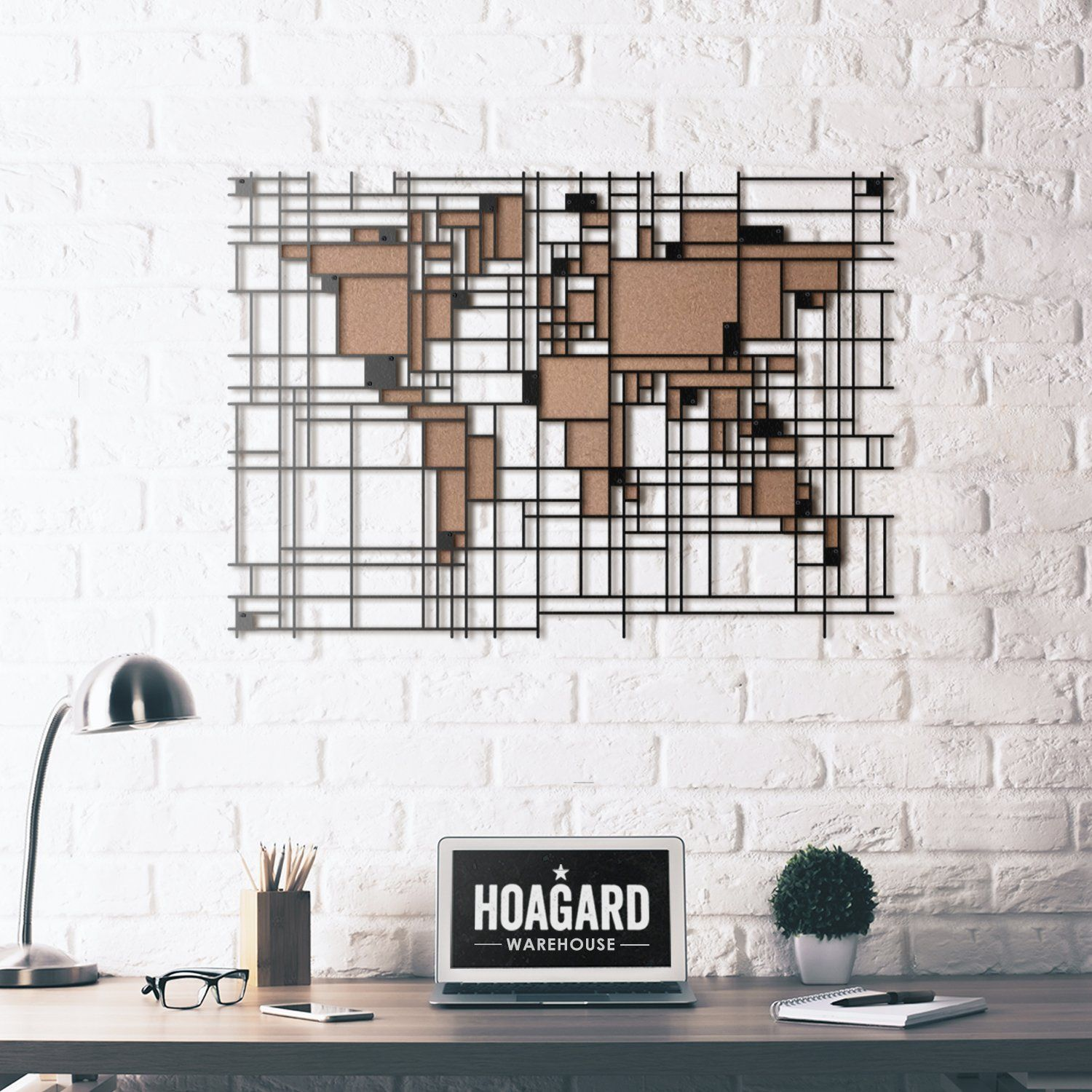 LIMITED PRODUCT) - Mondrian World Map | Mondrian, Metal wall art and ...