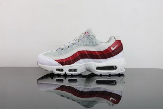 buy online 594a9 ad59f Fashion Shoes 2018 Nike Air Max 95 Essential White Wolf Grey Pure Platinum Team  Red Shoe