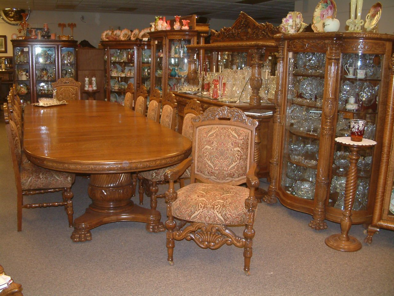 R J Horner New York Dining Group 14 Banquet Table Matching Buffet TablesVictorian FurnitureAntique FurnitureChina CabinetsBuffetDining