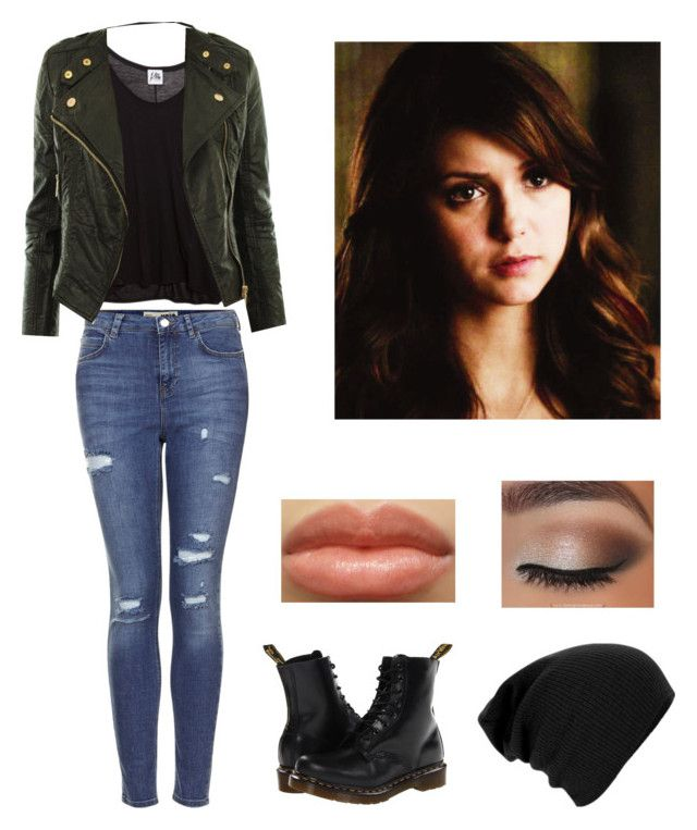 """""""Alyssa's Chapter 25 Outfit"""" by hopeisallwereallyneed ❤ liked on Polyvore featuring Topshop, Mlle Mademoiselle and Dr. Martens"""