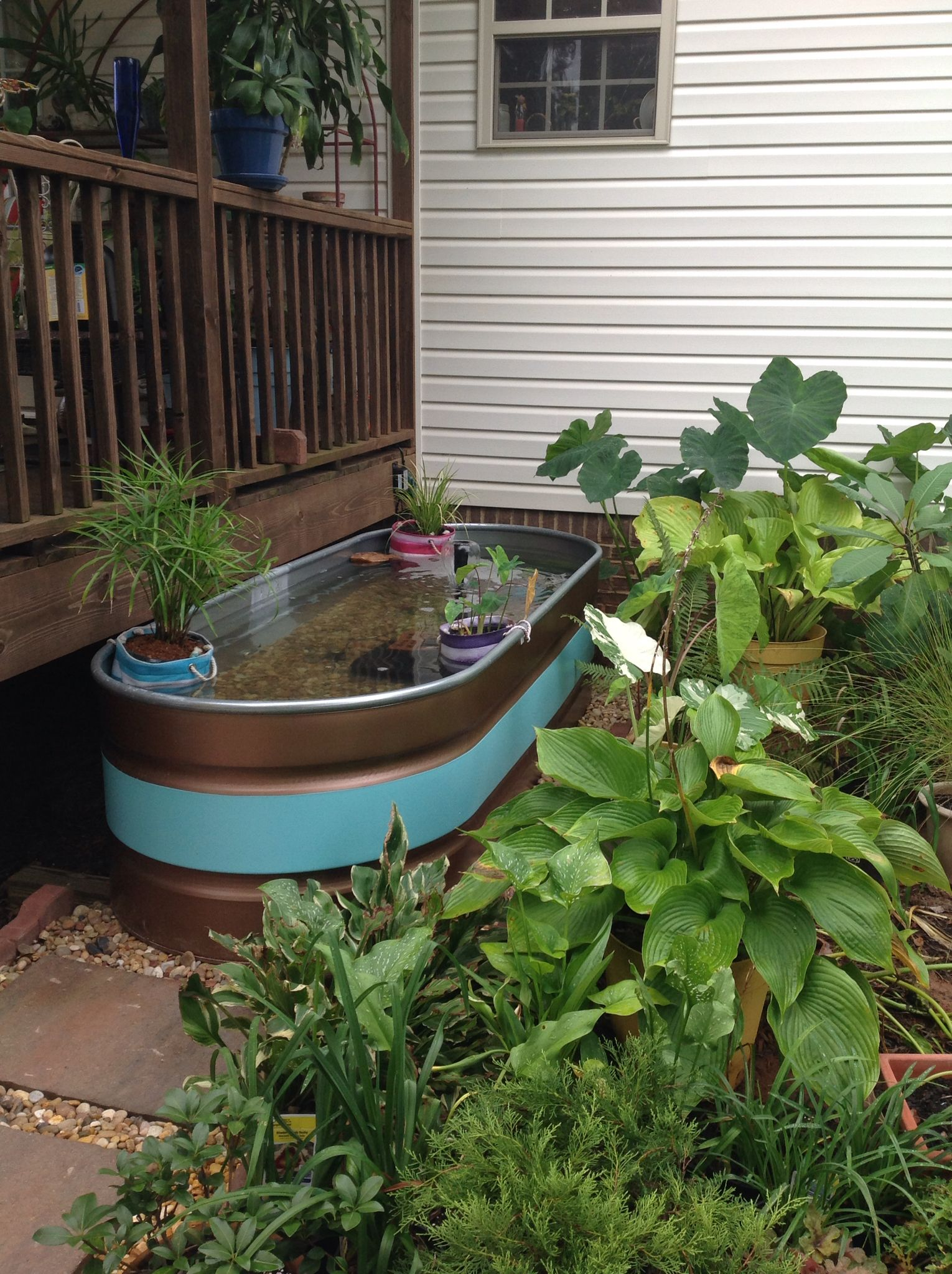 how to make a container pond in a stock tank | garden quotes ... - Patio Pond Ideas