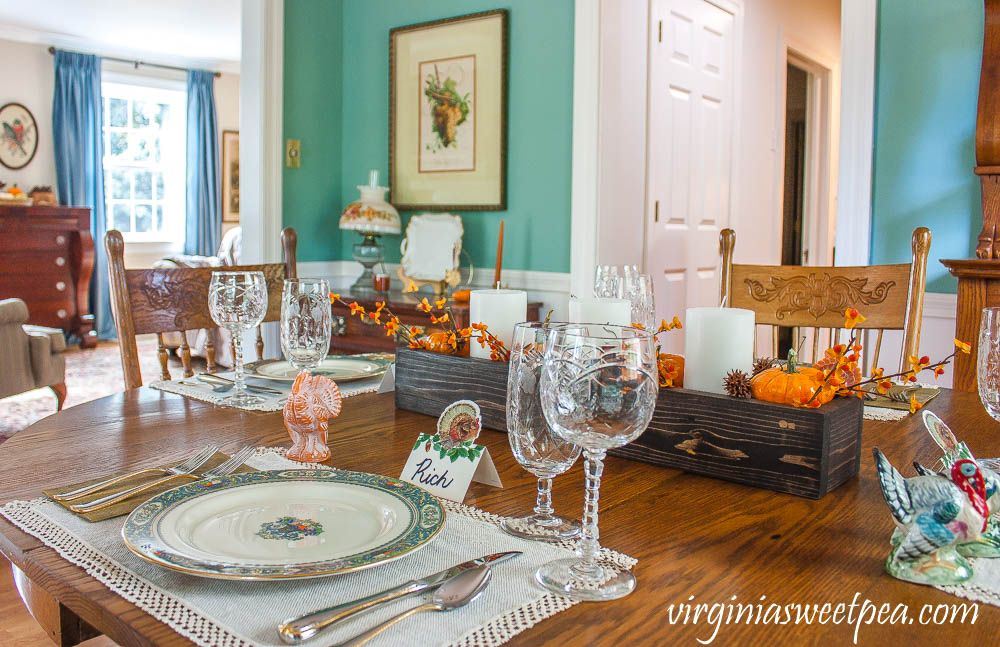 Thanksgiving Place Setting Ideas #thanksgivingtablesettings