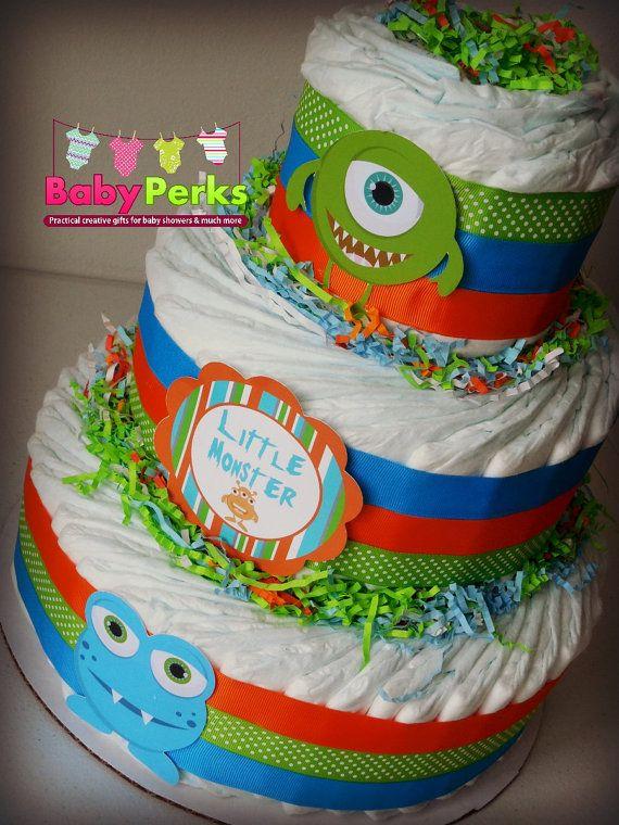 Little Monster Diaper Cake Little Monster Baby Shower