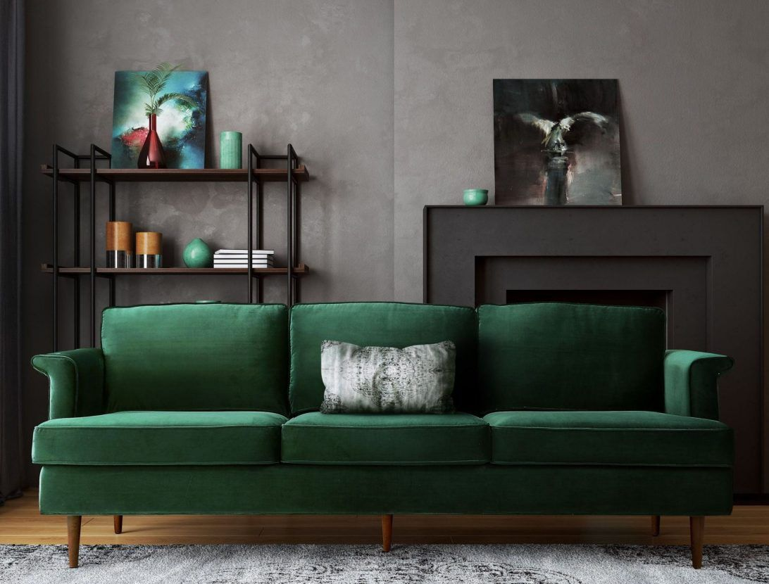 51 Most Splendiferous Velvet Sleeper Sofa Blue Leather Couches For Sale Black And Brown Denim Couch Cloth Tu With Images Green Velvet Sofa Green Sofa Living Room Furniture