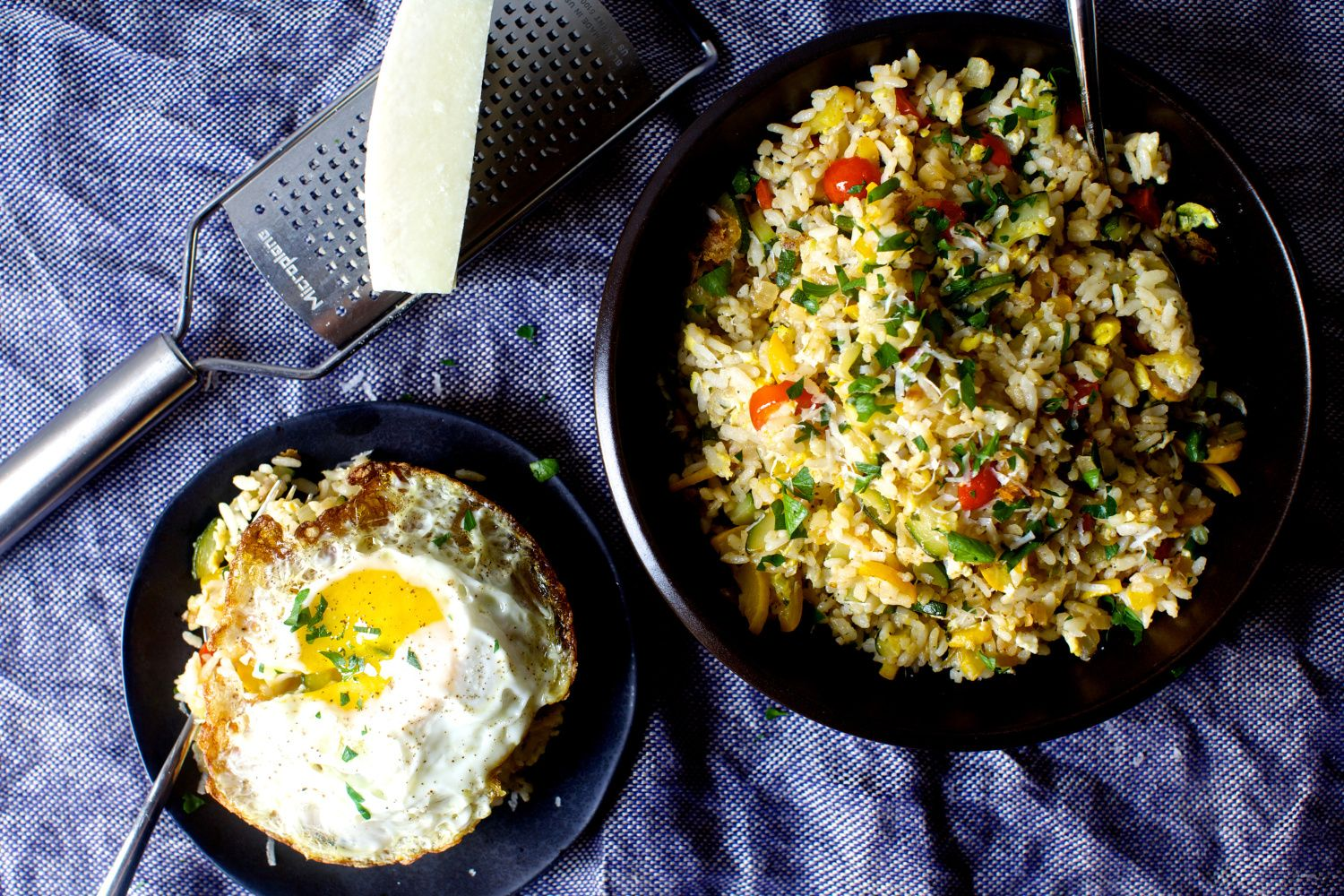 Fried Rice with Zucchini, Tomatoes and Parmesan | Rezept ...