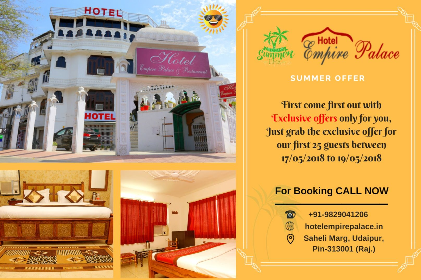 We provides the luxury facility in the hotel like royal