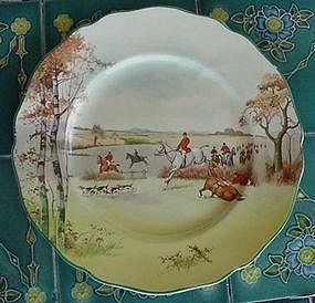 Royal Doulton Fox Hunting A Rackplate 1940 Equestrian