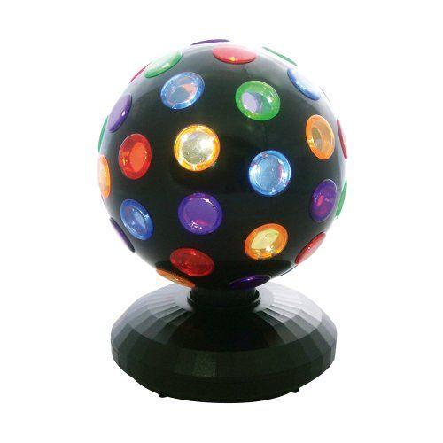 5 Inch Black Disco ball Multi Coloured Lights: Amazon.co.uk: Lighting