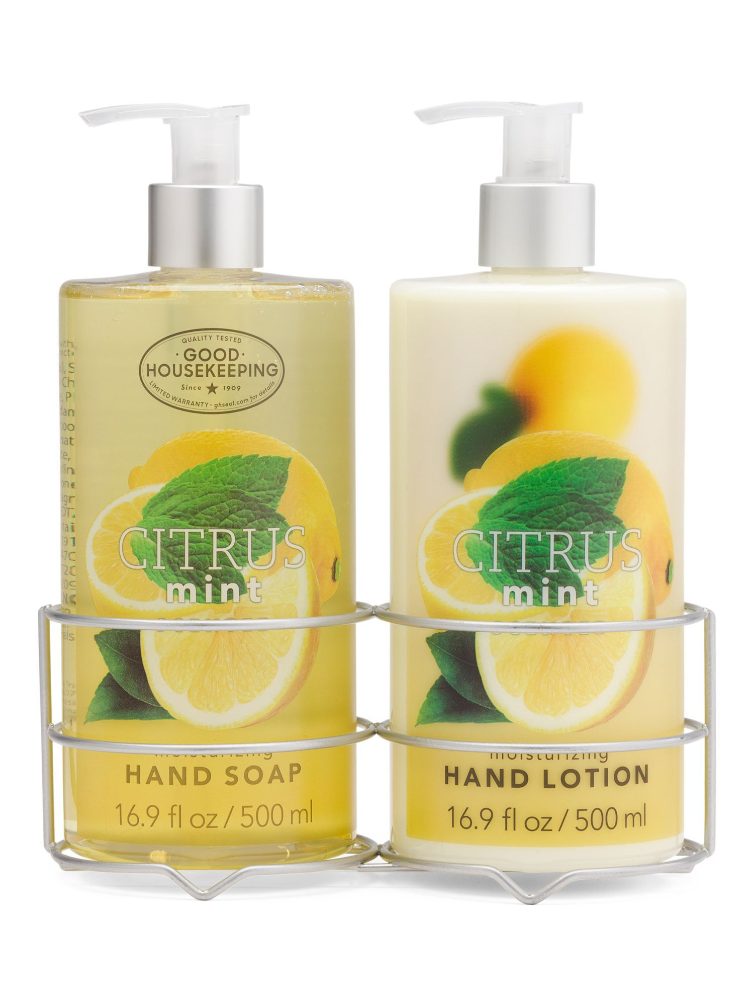Citrus Mint Hand Soap And Lotion Caddy Set In 2020 Lotion
