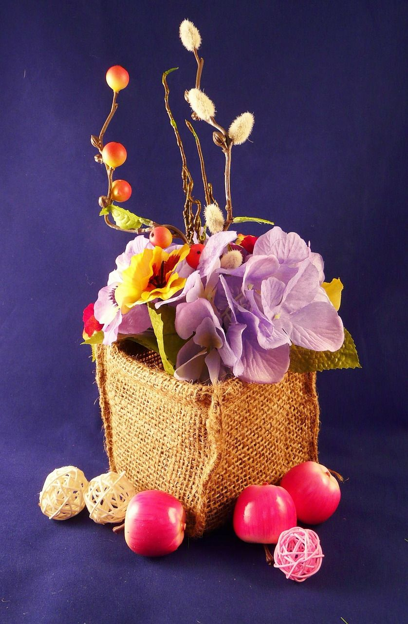 Wedding, Flowers, Baskets, Blossoms, Fruits wedding,