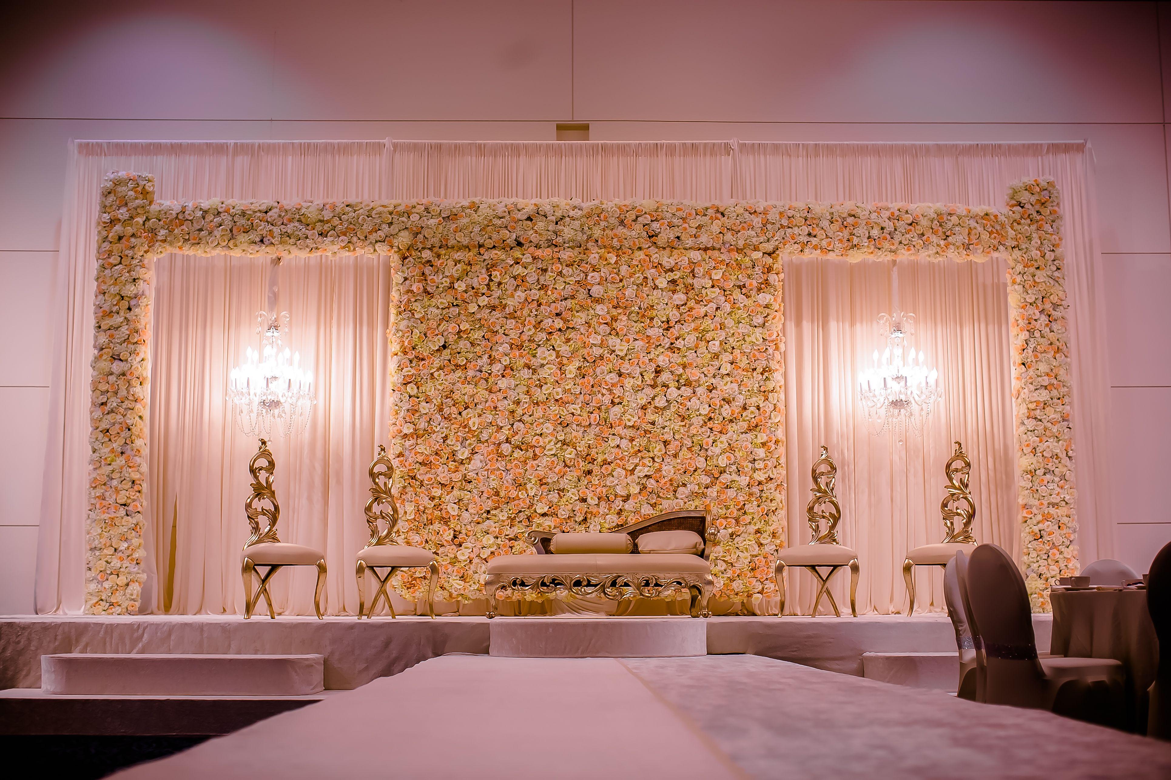 Wedding stage decoration dubai  Wedding Flowers and Decorations  Wedding Specials  Pinterest