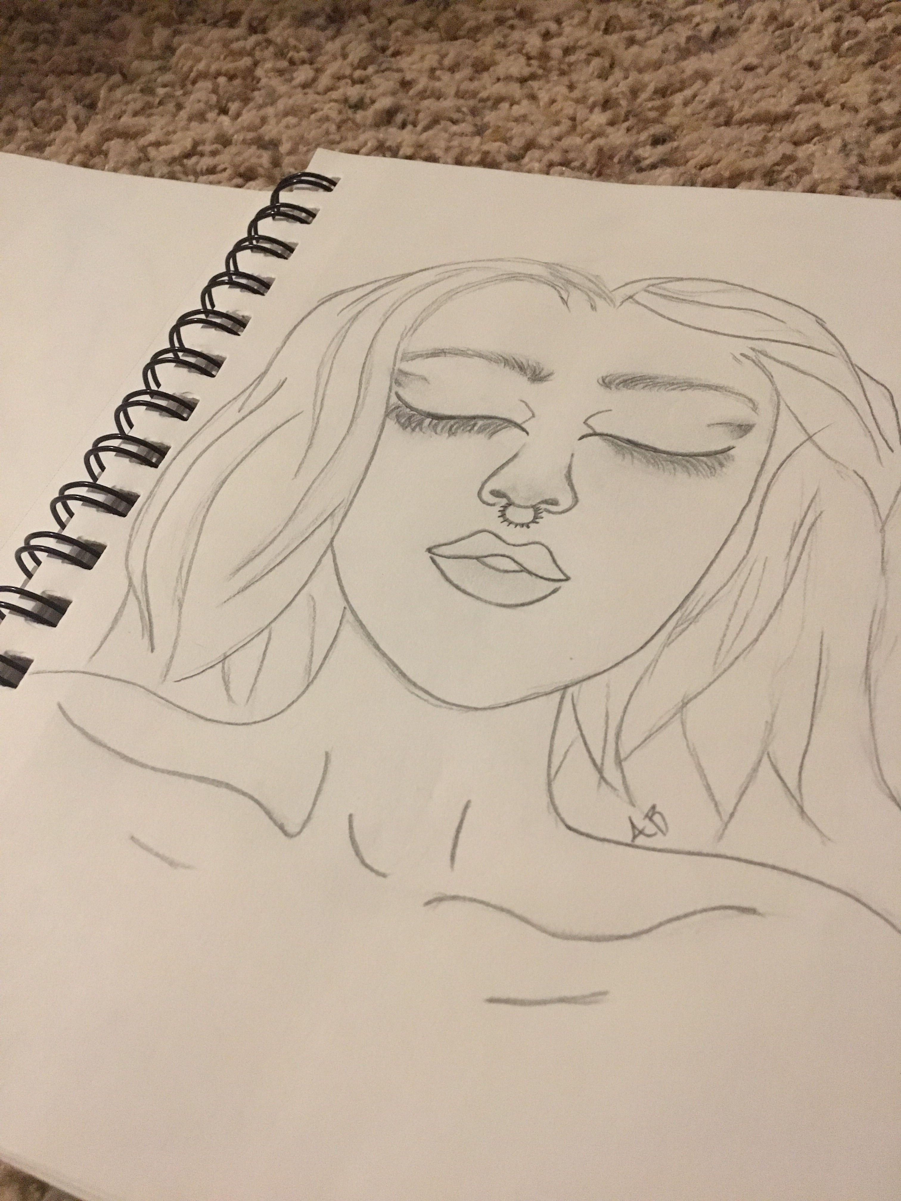 Simple Person Drawing Person Drawing Drawings Female Sketch