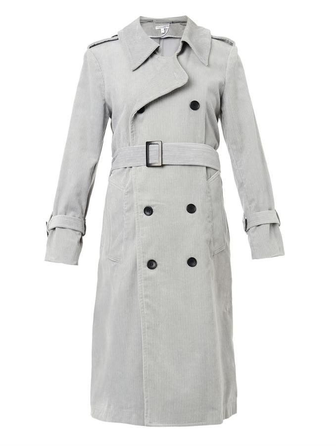 $998, Grey Trenchcoat: Current/Elliott Charlotte Gainsbourg X The Oversized Corduroy Trench Coat. Sold by MATCHESFASHION.COM. Click for more info: https://lookastic.com/women/shop_items/78563/redirect