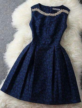 Vestido Azul Ropa Moda Y Vestidos De Moda